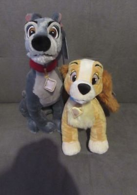 Lady & The Tramp Soft Toys Disney Store Exclusive BNWT