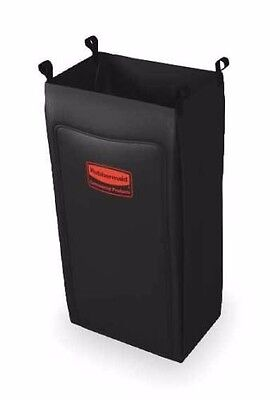 Rubbermaid 6187 Heavy-duty Fabric Cleaning Cart Bag Black Rcp6187bla