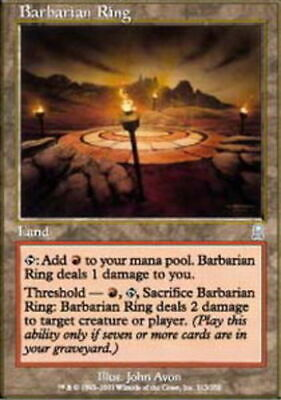 T-Chinese Barbarian Ring Near Mint Odyssey Foreign MTG Magic UltimateMTG Land  - $0.99
