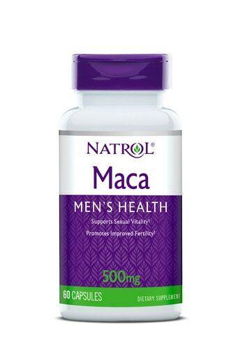 Natrol Maca 500mg 60 Capsules Enhances Fertility & Desire Ne