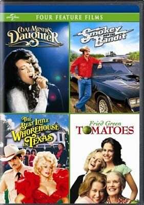 COAL MINERS DAUGHTER + SMOKEY BANDIT + WHOREHOUSE + FRIED GREEN TOMATOES New DVD