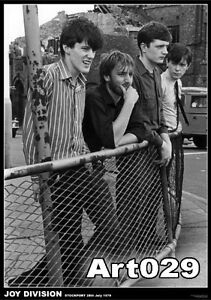 JOY-DIVISION-POSTER-60x90cm-NEW-band-in-1979-Ian-Curtis-Bernard-Sumner-fence