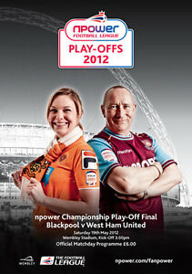 CHAMPIONSHIP PLAY OFF FINAL  2012: Blackpool v West Ham