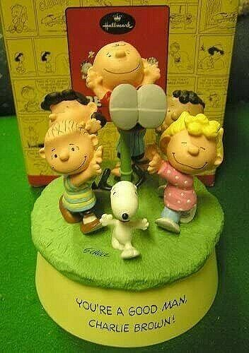 Peanuts Gallery A GOOD MAN Charlie Brown Musical Figurine Limited Edition 2001