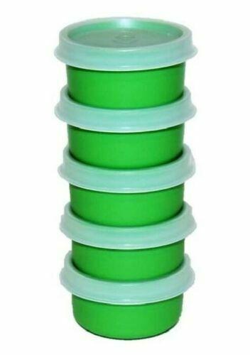 Tupperware Smidgets 1 oz. Mini Bowls Set of 5 Green NEW Pills Vitamins Coins