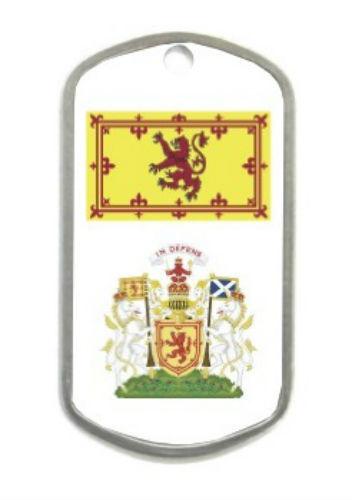 Royal Scottish Scotland Lion King Family Clan Crest Flag Dog Tag Lighter Set Lot