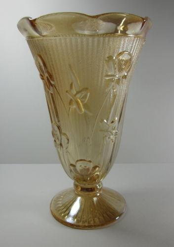 Iris Glass Vase Ebay