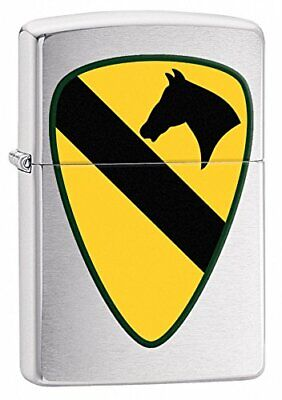 29184 Zippo Army Lighter Style Color:Brushed Chrome 1st Calvary Made in USA