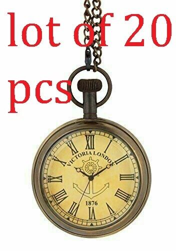 Victoria London 1876 Brass Pocket Watch Antique Vintage Collectible Item