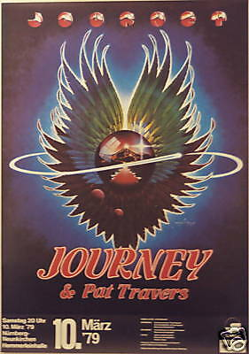 JOURNEY PAT TRAVERS CONCERT TOUR POSTER 1979 EVOLUTION