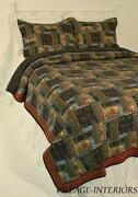 King Quilt Set Green