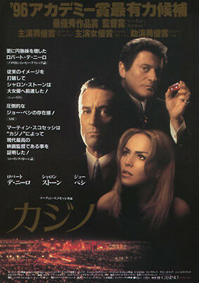 Used, Casino (1995) Original Japanese Theathre Mini-Poster (B5 Size) - Chirashi  for sale  Shipping to United States