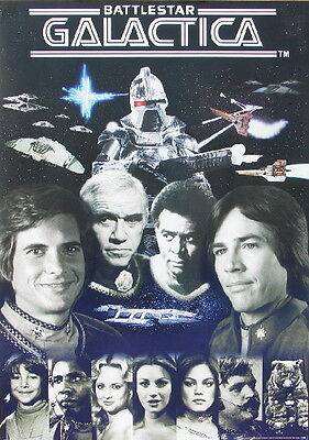Battlestar Galactica Original 1978 TV Series Cast Poster NEW UNUSED ROLLED