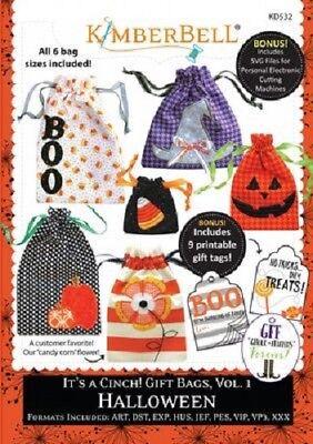 Kimberbell KD532 It's a Cinch! Gift Bags Vol 1 Halloween - Kimberbell Halloween