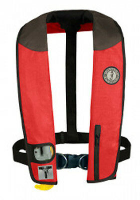 Mustang Survival Deluxe Inflatable Collar PFD with Sailing Harness (Auto-Inflate Mustang Deluxe Auto Inflator