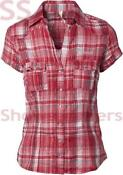 Ladies Short Sleeved Checked Shirt