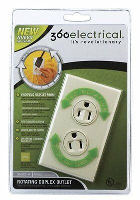 360 Electrical 36012-a Rotating Duplex Outlet Almond