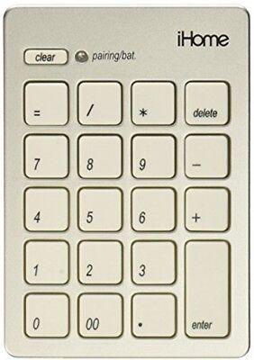 iHome IMACA201W Mac Bluetooth Numeric Keypad White