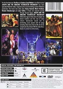 Joseph And The Amazing Technicolor Dreamcoat  with Donny Osmond New (DVD  1999)