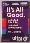Ultra Mobile 4G Dual Cut Cell Phone SIM Cards