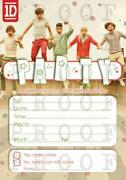 One Direction Party Invitations