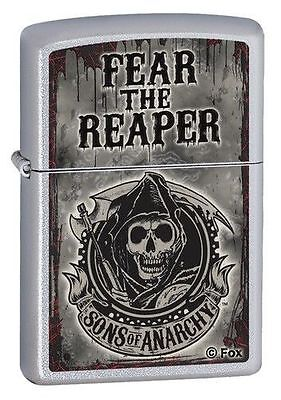 """Zippo """"Sons of Anarchy-Fear The Reaper"""" Lighter, Satin Chrome, 28502"""