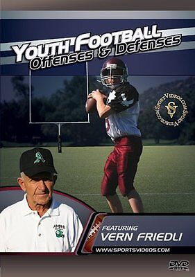 Youth Football Offenses and Defenses DVD for Players or Coaches- Free Shipping!