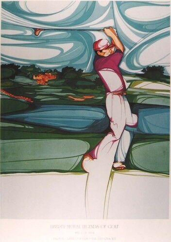 Amado Pena - Legends of Golf - Poster 1994 Signed