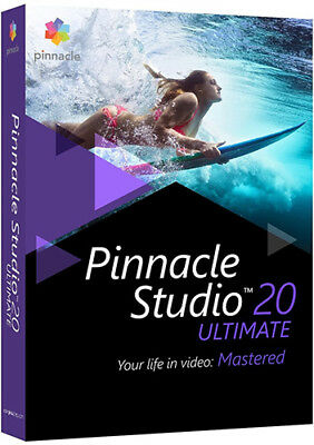 Pinnacle Studio 20 Ultimate   Brand New Retail Box Pnst20ulefam