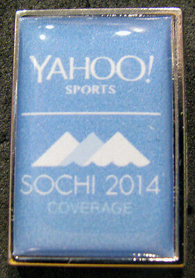 2014 Sochi  Russia Olympic Games Yahoo  Sports Media Pin Very Rare