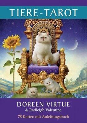 Tiere-Tarot von Doreen Virtue; Radleigh Valentine (Buch) NEU