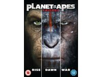 brand new factory sealed Planet Of The Apes Trilogy - Rise / Dawn / War (Andy Serkis)