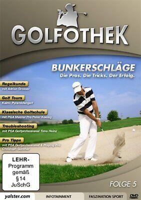 Golfothek - Bunkerschläge ( Regelkunde, Golf Tours, Troubleshooting ) DVD NEU