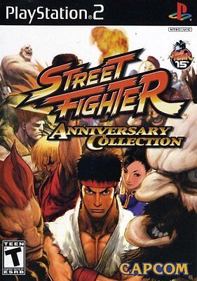 Street Fighter Anniversary Collection  Playstation 2 Ps2  Ntsc  Fighting  New