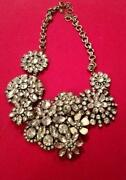 J Crew Flower Necklace