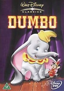 DUMBO WALT DISNEY 4th CLASSIC ANIMATED MOVIE UK 2001 REGION 2 DVD VGC