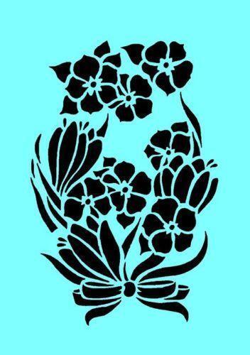 Airbrush Flower Stencil Ebay