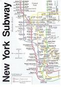 Vintage New York Subway Map