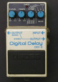 VINTAGE BOSS DIGITAL DELAY DD-2 RARE BLUE LABEL MADE IN JAPAN CLASSIC!