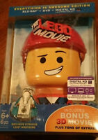 Brand New! The LEGO MOVIE  3D Blu-Ray +DVD + Dig HD + Bonus