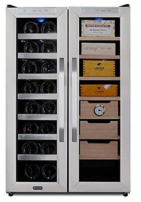 Whynter WHYNTER WINE COOLER AND CIGAR HUMIDOR CENTER CWC-351DD New