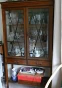 Edwardian Glass Cabinet
