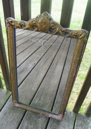 Antique Etched Mirror Ebay