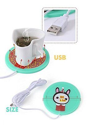 USB Powered Cup Mug Warmer Cute Soldier Rabbit Cartoon Great Gift Office Home  ()
