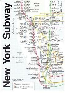 vintage nyc subway maps