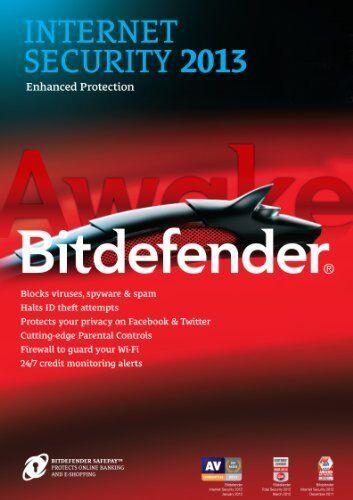 Bitdefender Internet Security 2013 3PC 2013 1Year 3 PC NEW Retail Antivirus 2015