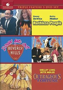 RUTHLESS PEOPLE + DOWN OUT BEVERLY HILLS + OUTRAGEOUS FORTUNE 3 DVD Bette Midler