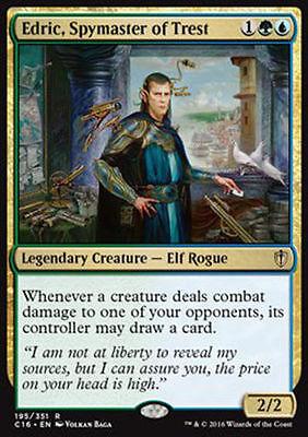1x EDRIC, SPYMASTER OF TREST Rare - Commander - MTG - NM - Magic the Gathering