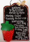 Wooden Strawberries Home Décor Wall Plaques