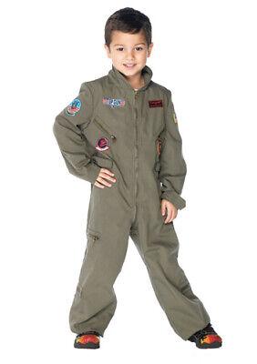 Boys Top Gun Pilot Jumpsuit Child Halloween Costume](Top Kid Halloween Costumes)